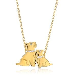 Kate Spade Mom Knows Best Dog Pendant NWT